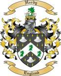 Hardy Family Crest from England
