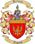 Harieson Family Crest from England2