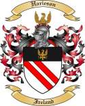 Harieson Family Crest from Ireland