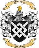 Harington Family Crest from England