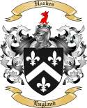 Harkes Family Crest from England