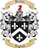 Harkus Family Coat of Arms from England