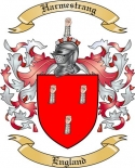Harmestrang Family Crest from England