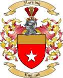 Harnish Family Coat of Arms from England