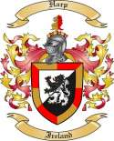 Harp Family Coat of Arms from Ireland