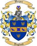 Harper Family Coat of Arms from England
