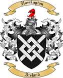Harrington Family Coat of Arms from Ireland