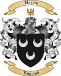 Harris Family Crest from England