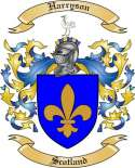 Harryson Family Coat of Arms from Scotland