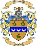 Harsewell Family Coat of Arms from England