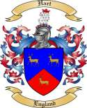 Hart Family Coat of Arms from England