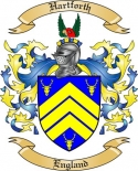 Hartforth Family Coat of Arms from England
