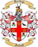 Hartlaye Family Crest from Ireland