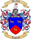 Hartlett Family Coat of Arms from England