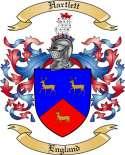Hartlett Family Crest from England