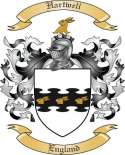 Hartwell Family Crest from England
