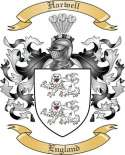Harwell Family Crest from England