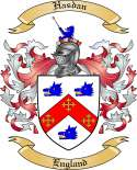 Hasdan Family Coat of Arms from England