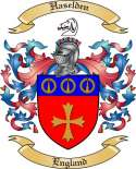 Haselden Family Coat of Arms from England