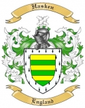 Hasken Family Crest from England