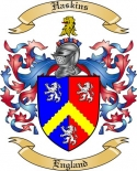 Haskins Family Crest from England2
