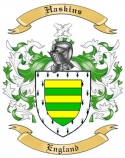 Haskins Family Crest from England