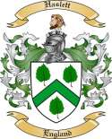Haslett Family Coat of Arms from England