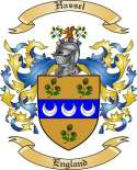 Hassel Family Crest from England
