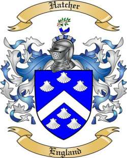Hatcher Family Crest from England by The Tree Maker