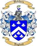 Hatchers Family Coat of Arms from England
