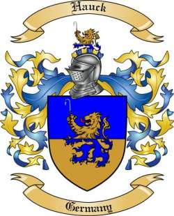 Hauck Family Coat of Arms from Germany