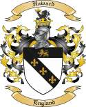 Haward Family Coat of Arms from England
