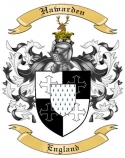 Hawarden Family Crest from England