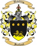 Hawking Family Crest from Scotland