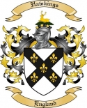 Hawkings Family Crest from England