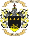 Hawkings Family Crest from Scotland