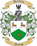 Hawkins Family Coat of Arms from Ireland