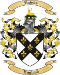 Hawks Family Crest from England