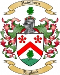 Hawthorn Family Coat of Arms from England