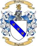 Haydens Family Coat of Arms from England