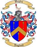 Hayles Family Coat of Arms from England