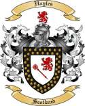 Hayles Family Coat of Arms from Scotland