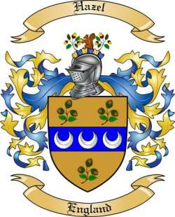 hazel family crest from england by the tree maker