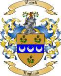 Hazell Family Coat of Arms from England