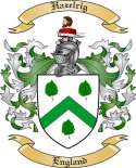 Hazelrig Family Crest from England