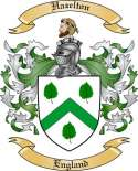 Hazelton Family Crest from England