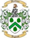 Hazleton Family Crest from England