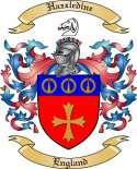 Hazzledine Family Coat of Arms from England