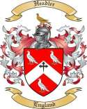 Headler Family Coat of Arms from England
