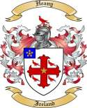 Heany Family Crest from Ireland